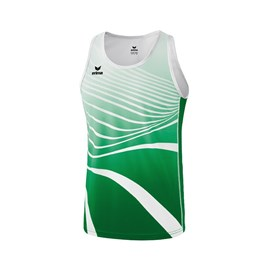 Dres Erima Athletic Singlet Smaragd/White
