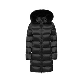 Jakna Colmar Detachable Fur Shiny Down Black